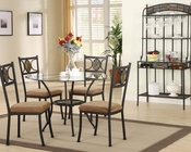 Dining Set w/ Clear Glass Top Table Desi by Acme Furniture AC70365SET