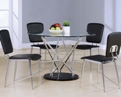 Dining Set w/ Clear Glass Top Table Ronli by Acme Furniture AC70920SET