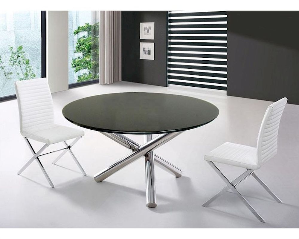 Dining Set W Dining Round Table In Contemporary Style 44DET08 SET