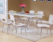 Dining Set w/ Glass Insert Table Bari by Acme Furniture AC70910SET