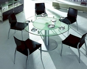 Dining Set w/ Glass Round Table 44DT50-SET