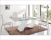 Dining Set w/ Glass Top Table 33-989SET