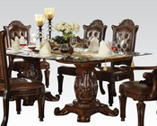Dining Set w/ Glass Top Table Vendome Cherry by Acme AC62005SET