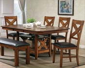 Dining Set w/ Grooved Top Table MCFALOD4272