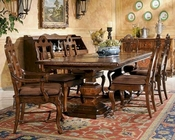 Dining Set w/ Pedestal Table Rue de Bac by Hekman HE-87222-SET