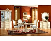 Dining Set w/Round Table Romana European Design Made in Italy 33D51