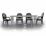Dining Set w/ White Lacquer Table 44DS212-SET