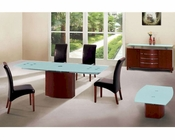 Dining Set with Frosted Glass Top Table European Design 33D361