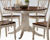 Dining Table in Buttermilk/ Oak Dylan by Acme AC70330