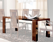 Dining Table in High Gloss Walnut Finish 33D62