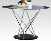 Dining Table w/ Clear Glass Top Ronli by Acme Furniture AC70920