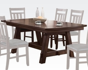 Distress Dark Walnut Dining Table Luciano by Acme Furniture AC71430