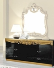 Double Dresser Black Baroque Classic Style Made in Italy 33B435
