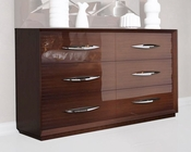 Double Dresser Modern Style in Walnut Carmen 33150CR