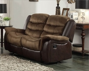 Double Glider Reclining Loveseat Bunnell by Homelegance EL-9666-2