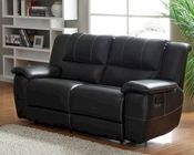 Double Glider Reclining Loveseat Cantrell by Homelegance EL-9778BLK-2