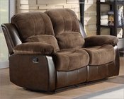 Double Glider Reclining Loveseat Cranley by Homelegance EL-9700FCP-2