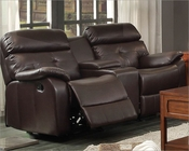 Double Glider Reclining Loveseat Evana by Homelegance EL-8539-2