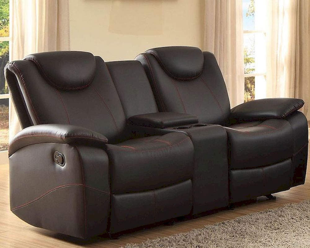 Double Glider Reclining Loveseat Talbot By Homelegance El