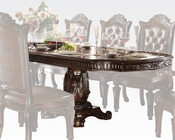 Double Pedestal Dining Table Vendome Cherry by Acme Furniture AC62000