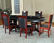Double Pedestal Poker Table Set with Classic Chairs PT-77051