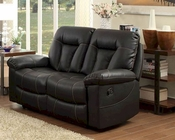 Double Reclining Loveseat Cade by Homelegance EL-8512BLK-2