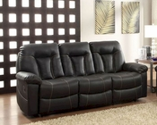 Double Reclining Sofa Cade by Homelegance EL-8512BLK-3