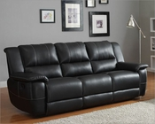 Double Reclining Sofa Cantrell by Homelegance EL-9778BLK-3