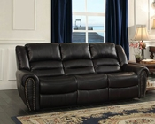 Double Reclining Sofa Center Hill by Homelegance EL-9668BLK-3