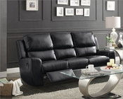 Double Reclining Sofa Gannet in Black by Homelegance EL-8529BLK-3