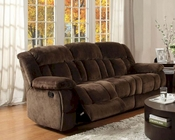 Double Reclining Sofa in Chocolate Laurelton by Homelegance EL-9636-3