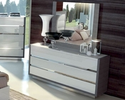 Two Tone Dresser and Mirror Mangano in Modern Style 33190MN