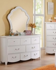 Dresser w/ Mirror Cecilie White by Acme AC30325DM