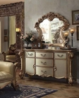 Dresser w/ Mirror Vendome Gold by Acme Furniture AC23005DM