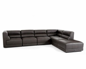 Eco-Leather Sectional Sofa in Modern Style 44L5983