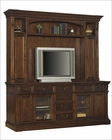 Entertainment Credenza w/ Hutch in Walnut Burl by Hekman HE-81642