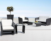 Espresso/ White Patio Sofa Set in Contemporary Style 44P227-SSET