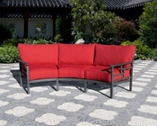 Essenza Patio Crescent Sofa by Sunny Designs SU-4716-L3