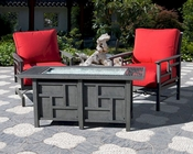 Essenza Patio Set w/ Fire Pit Table by Sunny Designs SU-4716F-Set