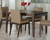 Euro Style Dining Set w/ Extension Table Banquo EU-09850SET