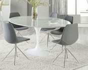 Euro Style Dining Set w/ Oval Table Astrid and Dax Chairs EU-28012SET