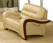 EuroDesign Almond Contemporary Leather Loveseat GF992LAL