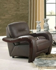 EuroDesign Brown Contemporary Leather Chair GF992CHBN