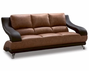 EuroDesign Leather Brown Two Tone Sofa GF982S