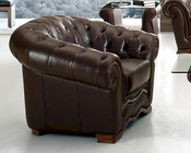 European Design Chair in Brown Finish 33SS64