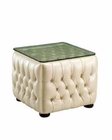 European Design End Table in Ivory Finish 33SS56