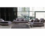 European Design Fabric Sofa Set in Lilac Finish 33SS101