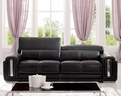 European Design Italian Leather Sofa in Dark Brown Finish 33SS122