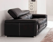 European Design Leather Loveseat in Dark Brown Finish 33SS123