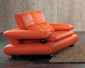 European Design Leather Loveseat in Orange Finish 33SS83